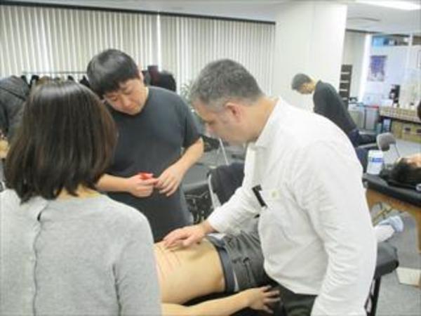 SAJ授業 オステオパシー反射テクニック 2019年2月8日-11日 オープンスクールも行われます。